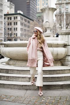 Enjoy the lush feel of this pink coat and be in the spotlight! 💁♀️ Mid-length Pink Faux Fur Coat with pockets on the side. Barett Outfit, Pink Faux Fur Coat, Fashion Sites, Fashion Trends, Fashion Bloggers, Atlantic Pacific, Smart Outfit, Winter Mode, Layering Outfits