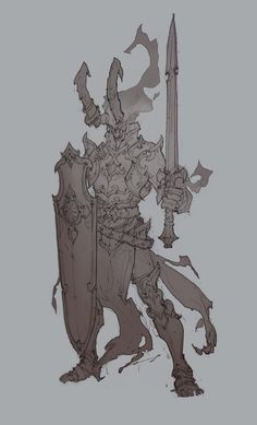 Sketches & drawings by Aleksey Kovalenko, via Behance