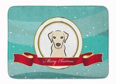Yellow Labrador Merry Christmas Machine Washable Memory Foam Mat BB1532RUG