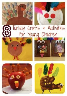 Turkey Crafts & Activities for Young Children : The Chirping Moms