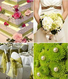 Olive green wedding theme