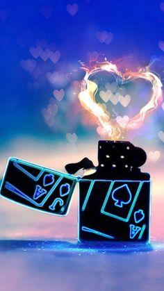 Lighter Love Heart Fire #iPhone #6 #wallpaper