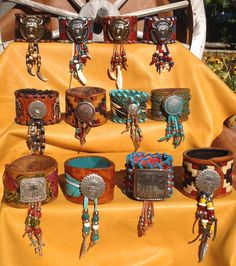 SouthWestern Leather tooled/ Handpainted Wide by DoubleJOriginals