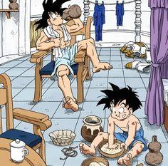 Goku and Gohan workout complete | La habitación del tiempo