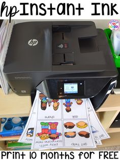 Printing and laminating hacks every teacher should know (preschool, elementary, middle school, high school). Print every thing in color and prep quickly and easily. Get FREE INK with HP Instant Ink! Classroom Hacks, Toddler Classroom, Classroom Organisation, Teacher Organization, Teacher Hacks, Kindergarten Classroom, Classroom Management, Teacher Binder, Teacher Stuff