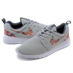 Online Bestellen Herren/Damen Nike Roshe One Print Blumen grau Laufen Schuhe