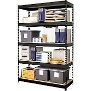 Hirsh Heavy-Duty 5-Shelf Metal (Grey) Shelving Storage Unit