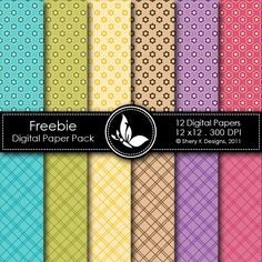 Free Digital Paper Pack 1. *