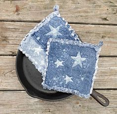 Bleached Star Potholders - The Best Potholders Ever