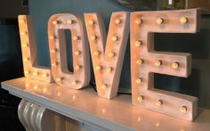 marquee letter light by my-bohemia | notonthehighstreet.com