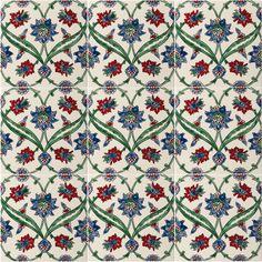Azulejos florais de Alhambra