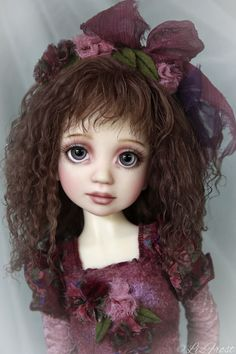 """Ruby Red"" ~ ARTIST PROOF ~ by Liz Frost #DollswithClothingAccessories"