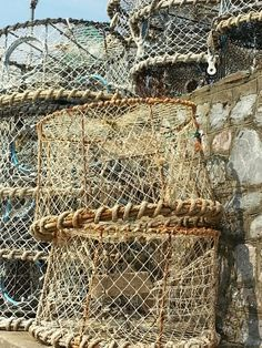 Lobster Pots. I am making a light shade out of a Crab Net...