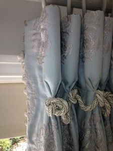 Goblet Pleat Curtains by Melanie Downing Interiors