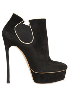 CASADEI - 150MM SUEDE LOW BOOTS - LUISAVIAROMA - LUXURY SHOPPING WORLDWIDE SHIPPING - FLORENCE