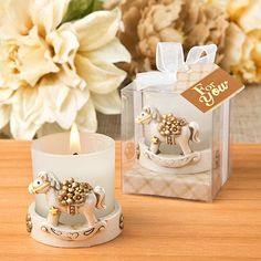 Everyone has the experience for riding a rocking horse in his childhood. Provide some clues with guests for them to recall the experience for rocking horse with these Vintage Rocking Horse Candle Holders. Edible Wedding Favors, Rustic Wedding Favors, Beach Wedding Favors, Baby Shower Candle Favors, Baby Shower Party Favors, Baby Shower Parties, Shower Gifts, Candle Holders Wedding, Votive Candle Holders