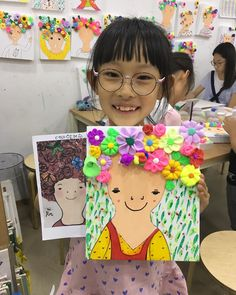 Fun with Portraits II Guidebook Painting For Kids, Drawing For Kids, Art For Kids, Crafts For Kids, Portraits For Kids, Japan Crafts, Kindergarten Art Projects, Collaborative Art, Baby Art