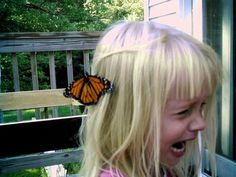 You appreciate that butterfly on your head you little bitch, vintage white girl bloggers would kill for a picture like that