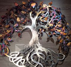 Large Metal Wall Art Infinity Tree of Life Heated Stainless