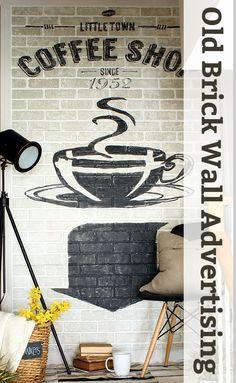 old brick wall ad
