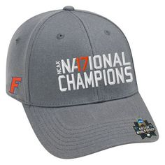 uk availability 1bf8b de21b Florida Gators Top of the World 2017 NCAA Men s Baseball College World  Series National Champions 1Fit Flex Hat - Gray