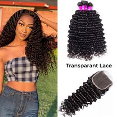 """La'Mo Hair on Instagram: """"❤️Pretty queen slaying the Deep Wave Bundles With 4*4 Transparent Lace Closure 😍 #shepretty👸 Grab yours now and rock this style💖 Link in…"""" Weave Hairstyles, Straight Hairstyles, Buy Hair Extensions, Best Virgin Hair, Virgin Hair Bundles, Waves Bundle, Remy Human Hair, Lace Closure, Lace Wigs"""