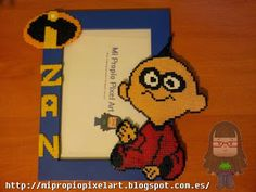 Jack-Jack The incredibles photo frame hama beads by Nuria Henares Sanmartín