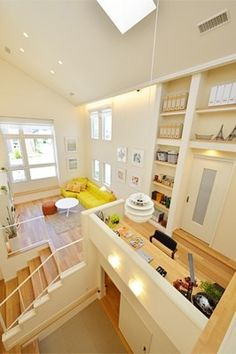 Interesting arrangement loft with high ceiling