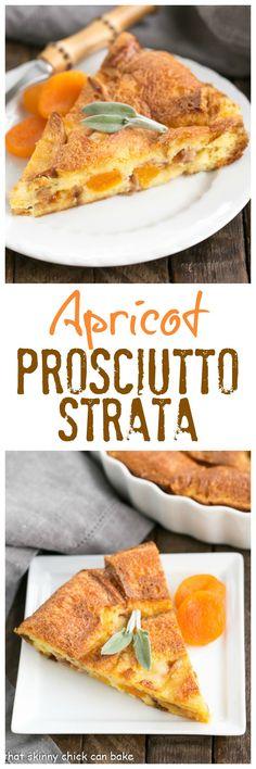 Apricot Prosciutto Strata | A fabulous, make ahead breakfast casserole! @lizzydo #BonneMaman #SayItWithHomemade