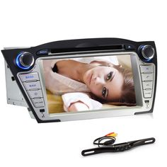 Generic 7 Inch In Dash Car DVD Player GPS Navigation Digital Touchscreen for IX45 with Rear Camera