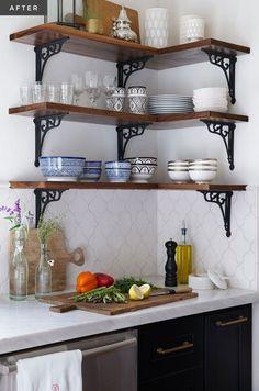 A Modern Moroccan Kitchen – diy kitchen decor ideas Kitchen Interior, Kitchen Design Small, Kitchen Appliances Layout, Kitchen Remodel, Moroccan Kitchen, House Design Kitchen, Home Kitchens, Tiny House Kitchen, Kitchen Layout