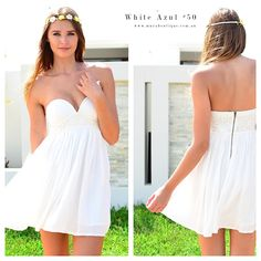 Stunning dress White Azul $50 available now at www.muraboutique.com.au