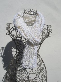 crochetted white and cream summer wrapp by crochettine on Etsy