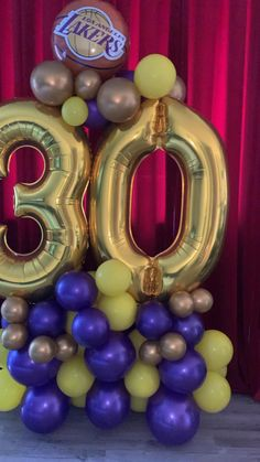 Lebron James Birthday, Kobe Bryant Birthday, 24th Birthday, 40th Birthday Parties, Birthday Balloons, Birthday Party Decorations Diy, Balloon Decorations, Instruções Origami, Balloon Arrangements