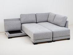 WASHINGTON L-Sovesofa Lysegrå - Sovesofa - Sofaer - Innendørs Room Inspiration, Home Office, Loft, Couch, Townhouse, Washington, Furniture, Home Decor, Homemade Home Decor