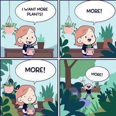 This is the only problem with plants🤣 Tag that one friend that is always buying … Cute Comics, Funny Comics, Crazy Funny Memes, Funny Jokes, Real Memes, All About Plants, Plants Quotes, Plant Care, Garden Quotes