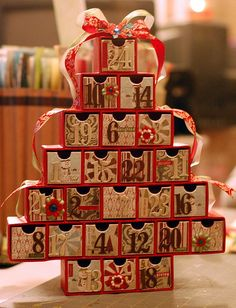 made by altering a starbucks advent calendar from last year.  TFL!