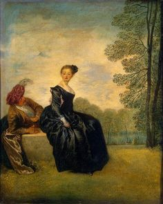 The Capricious Girl by @artistwatteau #rococo