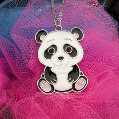 Kids Animal Pendant Necklace - Panda