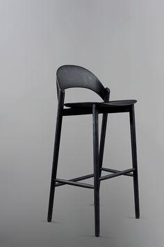 Sana Bar Stool – Monica Förster Design Studio Positano Restaurant, Restaurant Design, Warm Colors, Stockholm, Bar Stools, Pattern Design, Dining Chairs, Carving, Studio