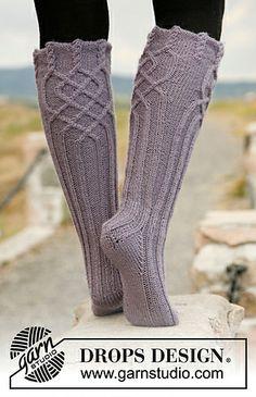 super pretty cable knee socks