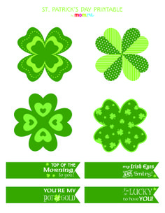Printable St. Patrick's Day Pins: An easy shamrock craft for you and the kids