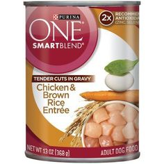 Purina One Smart Blend Tender Cuts - Chicken and Brown Rice Entree 13oz (Pack of 2) *** To view further for this item, visit the image link. (This is an affiliate link and I receive a commission for the sales) #Doggies
