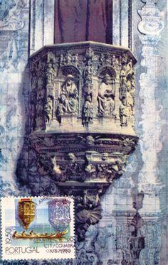 Postal máximo Púlpito da Santa Igreja de Santa Cruz. Este postal, editado em…