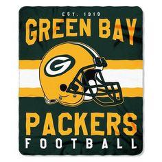 "Green Bay Packers 50"" X 60"" Singular Fleece Throw Blanket"