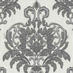 Vliesové tapety na stenu Spotlight - zámocký vzor sivo-strieborný | tapety-folie.sk