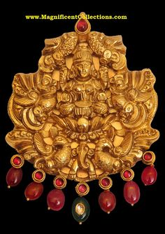 Goddess Lakshmi pendant-temple jewelry