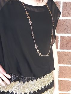 Cross detail necklace/earring set $18