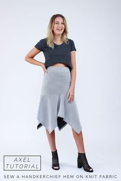 How to sew a handkerchief hem on knit fabric // perfect for the Axel V1 skirt! http://blog.megannielsen.com/2016/05/sew-handkerchief-hem-knit-fabric/?utm_campaign=coschedule&utm_source=pinterest&utm_medium=Megan%20Nielsen%20Patterns&utm_content=How%20to%20sew%20a%20handkerchief%20hem%20on%20knit%20fabric