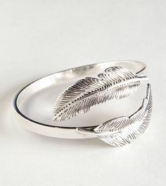 Leaf sterling silver bracelet. For more follow www.pinterest.com/ninayay and stay positively #inspired.